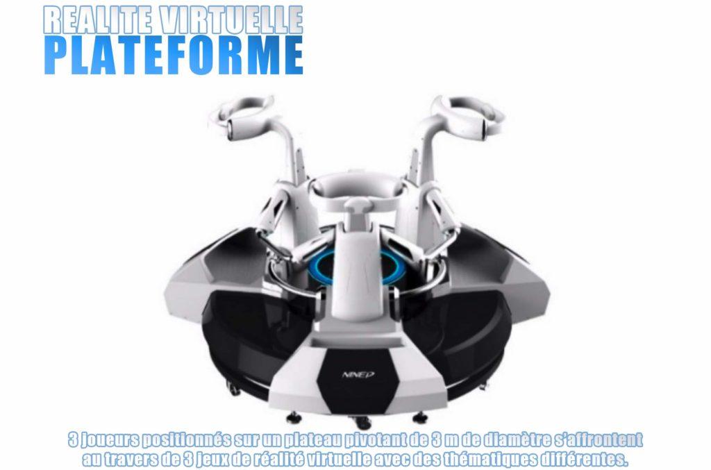 plateforme réalité virtuelle Elite Games salle de jeux réalité virtuelle