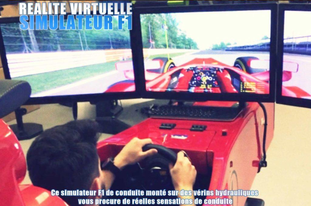 simulateur F1 réalité virtuelle Elite Games salle de jeux réalité virtuelle