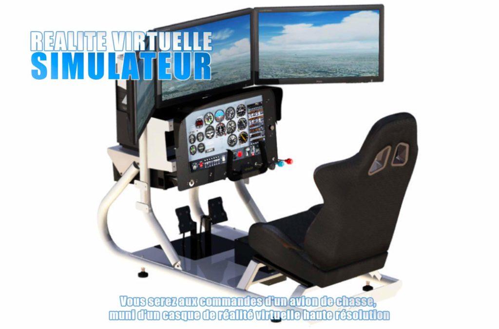 simulateur de vol réalité virtuelle Elite Games salle de jeux réalité virtuelle