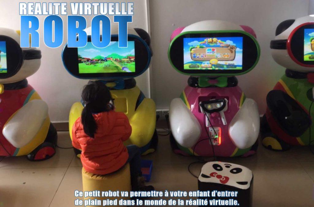 robot réalité virtuelle Elite Games salle de jeux réalité virtuelle