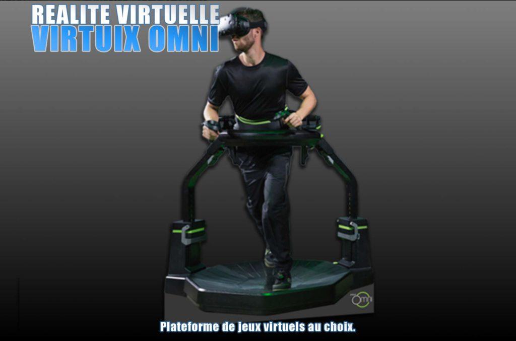 virtuix omni réalité virtuelle Elite Games salle de jeux réalité virtuelle