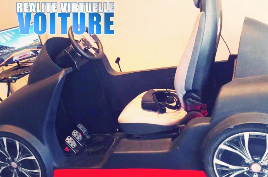 voiture réalité virtuelle Elite Games salle de jeux réalité virtuelle